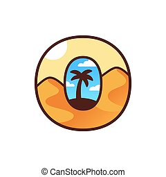 Desert Oasis logo with palm tree
