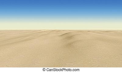 desert on a background of blue sky