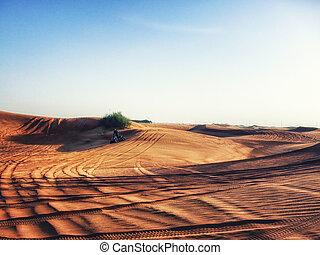 Desert Quad Biking - Quad biking through desert sand dunes