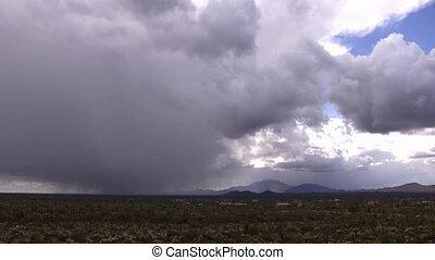 Desert Rain Storm Time lapse