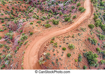 desert road - aerial view