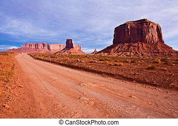 Desert Road in Monument Valley