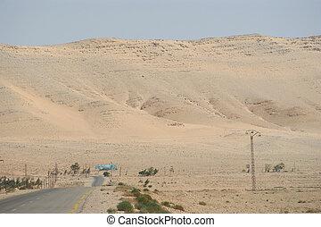 Desert road in the Syria