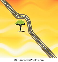 desert road - an illustration of a twisty road in the middle...