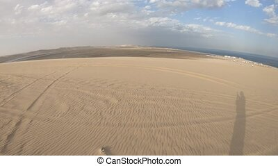Desert safari adventure at Khor Al Udeid, Persian Gulf,...