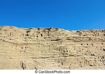 desert sand dune wind erosion