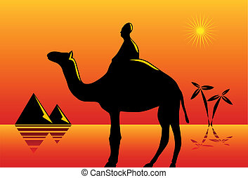 Desert scene concept
