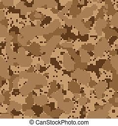 Desert seamless digital camo vector