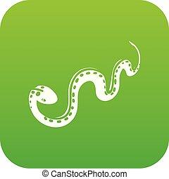 Desert snake icon green vector