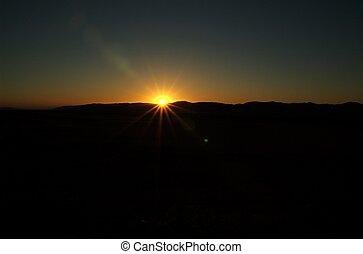 Desert sunset captured in the namib naukluft nationalpark.