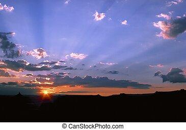 Desert Sunset - Sunset in Moab Utah