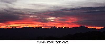 Desert sunset - Sunset west of Phoenix