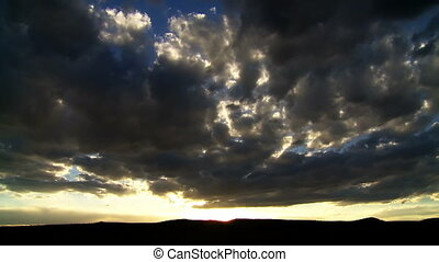 Desert Sunset Time-lapse