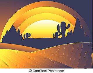Desert Twilight Landscape