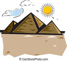 pyramid, Giza Pyramids, Cairo, Egypt