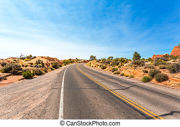 Desert valley road.
