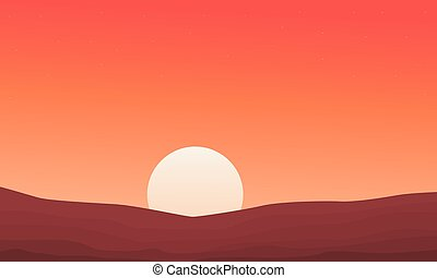 Desert vector landscape background nature