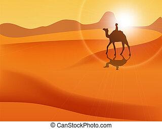 Desert - Vector picture of desert