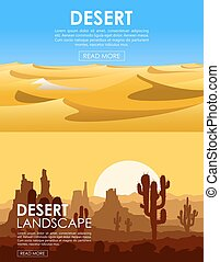 Desert vector set