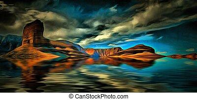 Desert Water Landscape