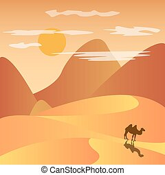 desert with mountains