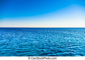 desertado, praia, mar