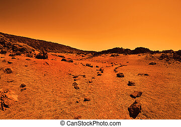 desertado, terrestre, planeta