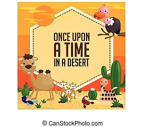 deserte animal, cartão