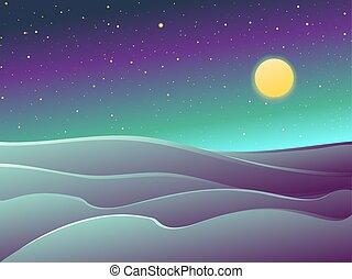 deserte noite, paisagem
