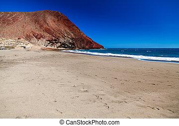deserted beach Playa de la Tejita