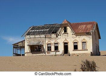 Deserted house in Kolmanskoppe