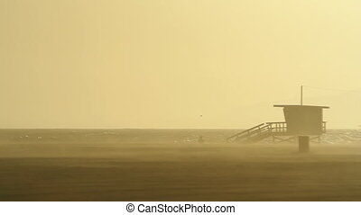 Deserted Lifeguard - This is a lifeguard tower on a deserted...