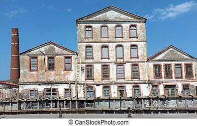 Deserted old factory