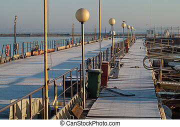 Pier in a Sunny Winter Day
