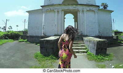 Deserted railway station - She invites him into deserted...