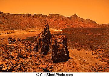 Deserted terrestrial planet - Deserted terrestial planet in...