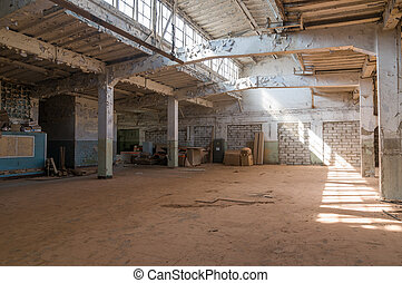 Deserted warehouse - Empty warehouse office or commercial...