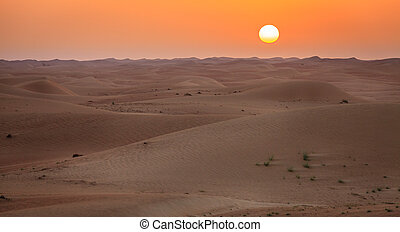 deserto, amanhecer