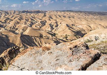 deserto, de, direita, com, pedra