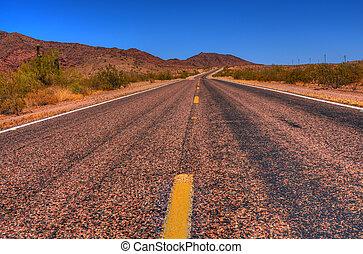 deserto, estrada