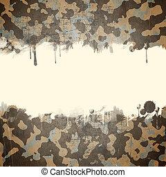 deserto, exército, camuflagem, fundo, com, um, espaço, para, texto