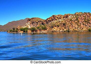 deserto, lago