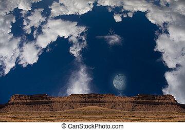 deserto, luna