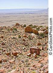 deserto, pedras vermelhas