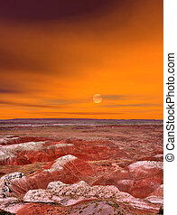 deserto pintado, amanhecer