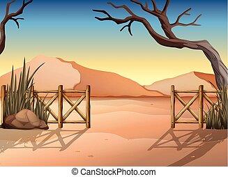 deserto, recinto