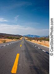 deserto, strada