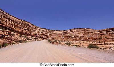 deserto, tracciato