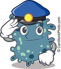 desgastar, chapéu, mascote, oficial, desenho, polícia, ...