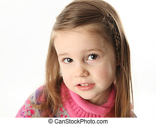 desgastar, cute, menina, toddler, echarpe